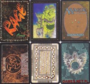 Kolekcjonerskie gry karciane_tylne strony kart